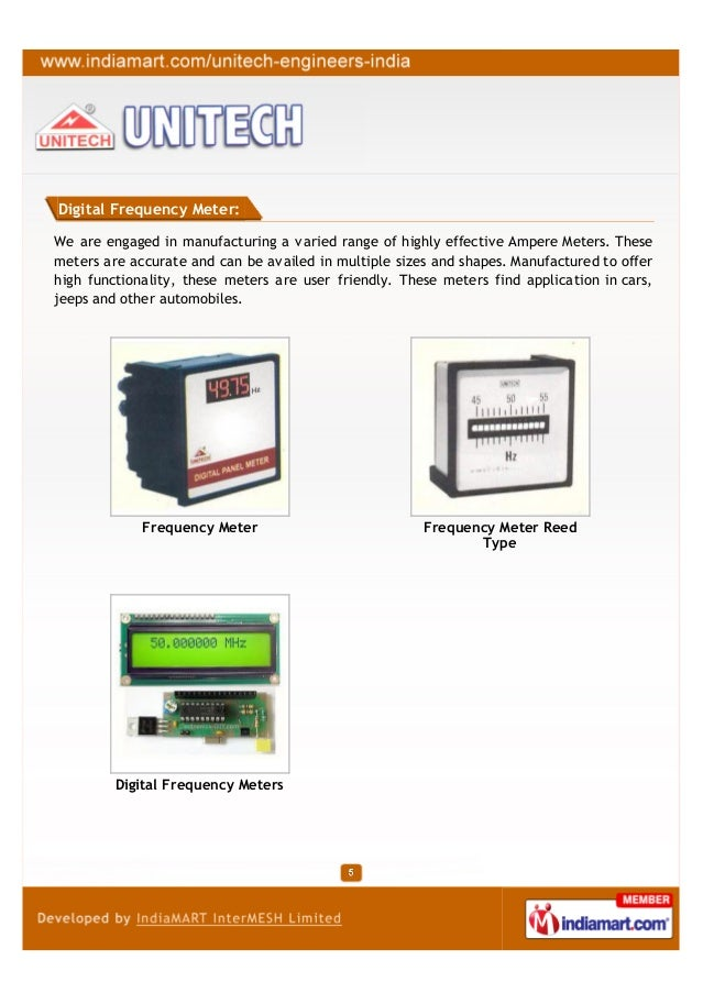 Digital Frequency Meter:We are engaged in manufacturing a varied range of highly effective Ampere Meters. Thesemeters are ...
