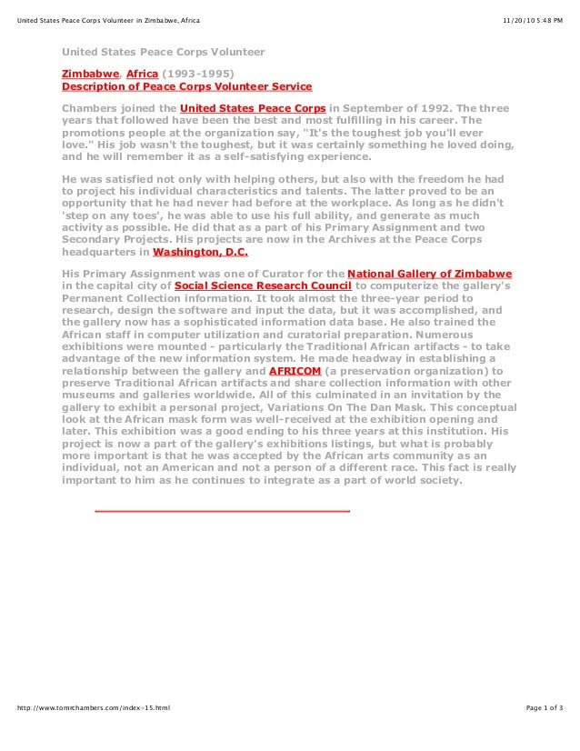 11/20/10 5:48 PMUnited States Peace Corps Volunteer in Zimbabwe, Africa Page 1 of 3http://www.tomrchambers.com/index-15.ht...