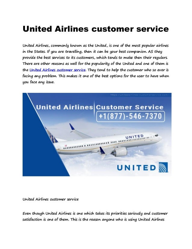 1877 546 7370 United Airlines Customer Service