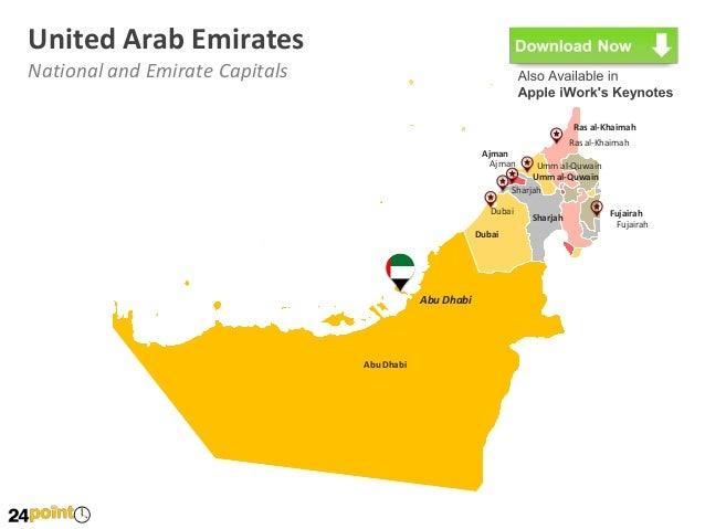 United Arab Emirates UAE Map PowerPoint Slides – Dubai United Arab Emirates Map