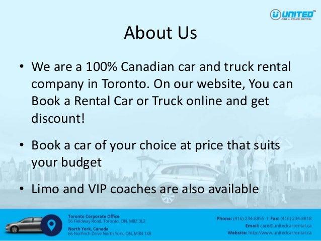 Discount Car And Truck Rental Toronto