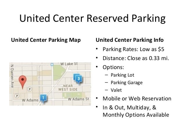 United Center Parking Map, Rates & Pass Guide