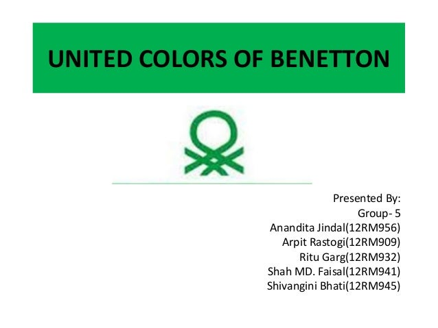 United colors of benetton ppt for Benetton we are colors
