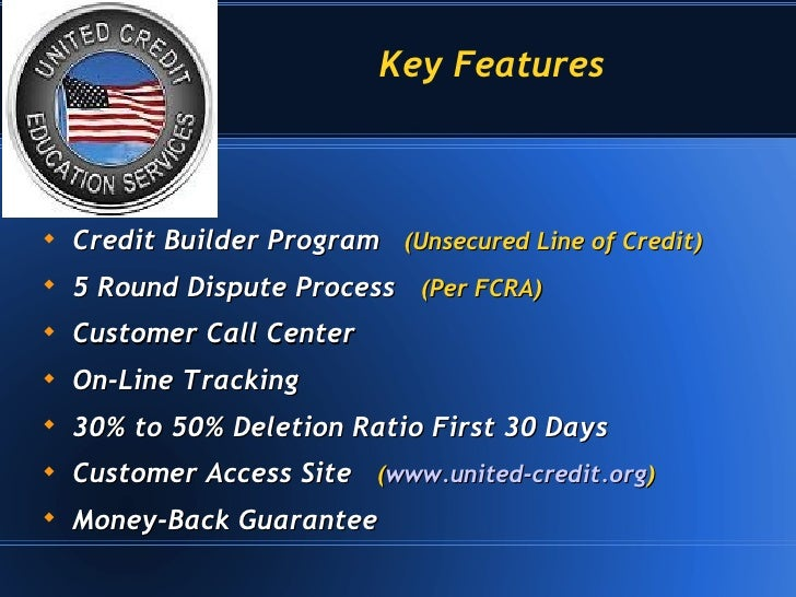 3 Credit Reporting Agencies >> United Credit Education Services