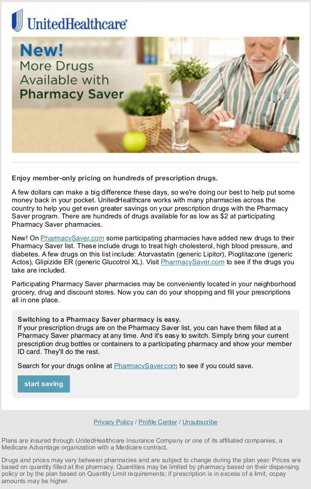 Beautiful UnitedHealthcare Email Campaign. View Email As Web Page With Images. Weu0027ve  Expanded Our Pharmacy Saver™