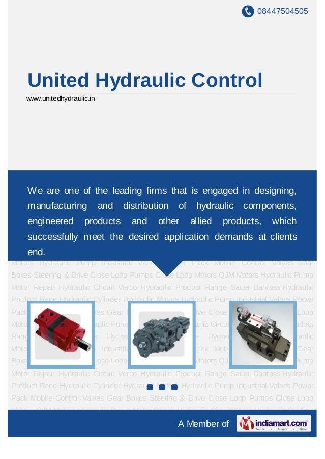 08447504505    United Hydraulic Control    www.unitedhydraulic.inHydraulic Motors Hydraulic Pump Industrial Valves Power P...