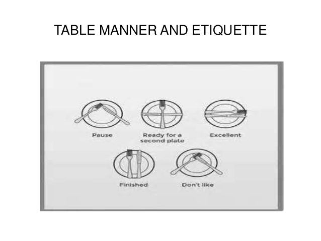 United kingdom great britain for Table etiquette