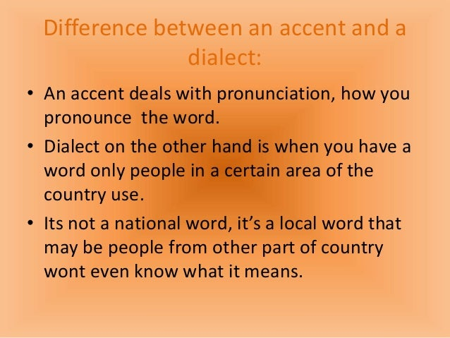 difference between dialect and accent pdf