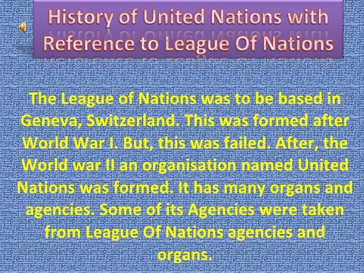 The united nations and the league