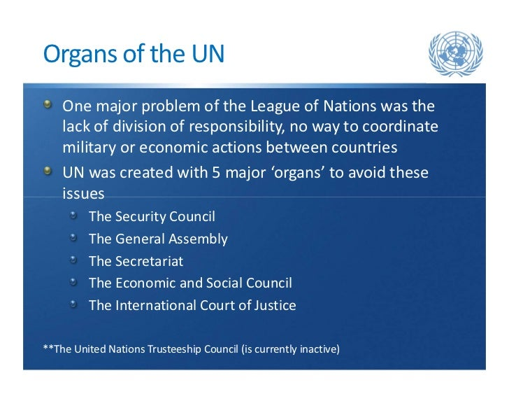 united nation system and organs Mechanisms in the united nations system : un charter-based bodies,  including the human rights council, and bodies created under the international  human.