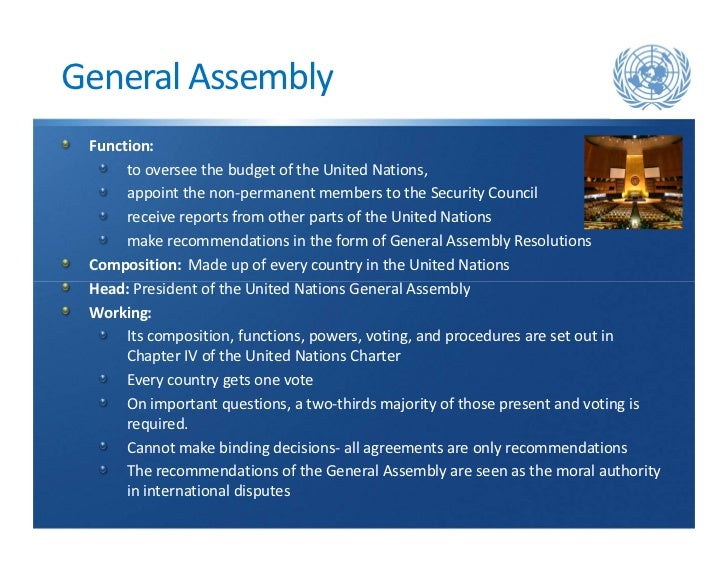 Difference Between UN Security Council and UN General Assembly
