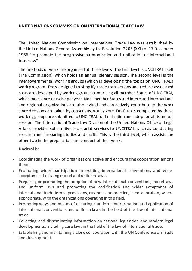 united nations commission on international trade 24 insol world – third quarter 2015 united nations commission on international trade working group v (insolvency law) report from the 47th session, 26-29 may 2015.