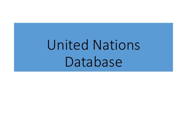 United Nations Database