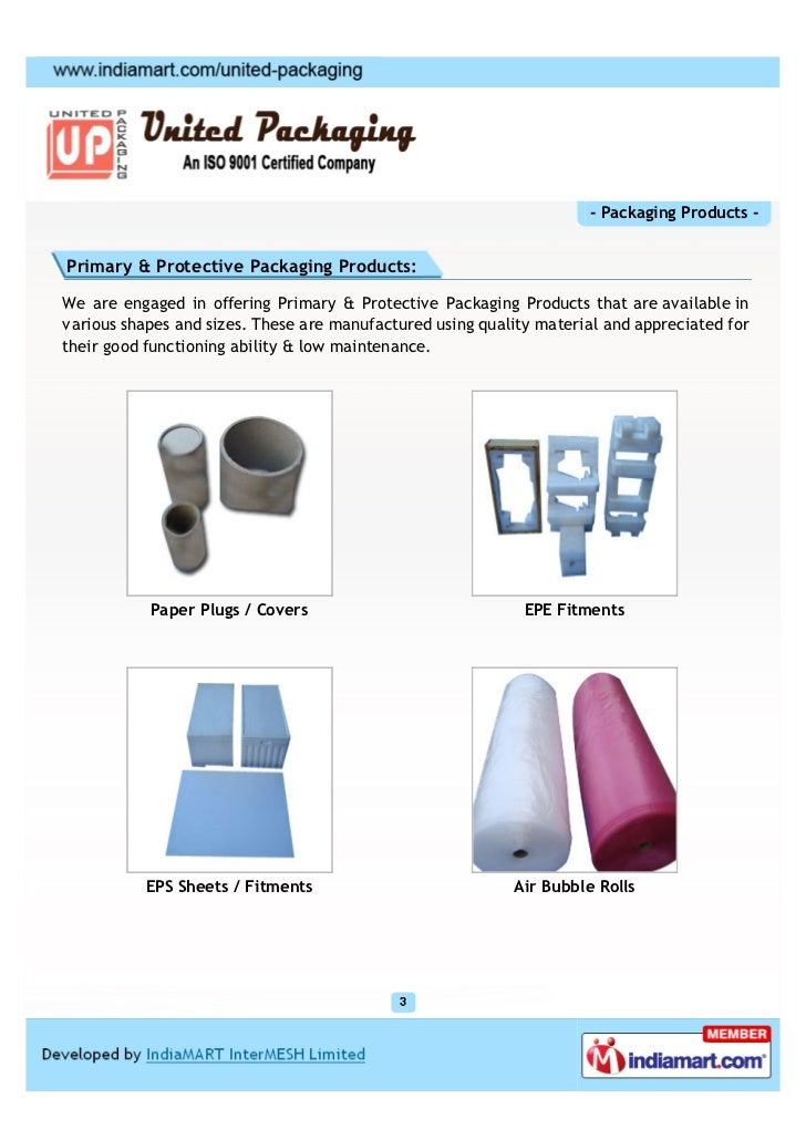 United Packaging, Bangalore, Packaging Products