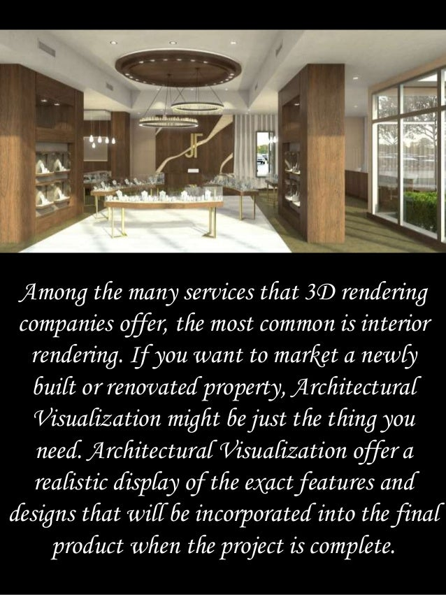 3. Among The Many Services That 3D Rendering ...