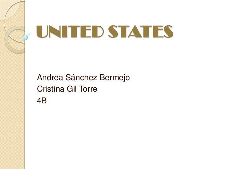 UNITED STATESAndrea Sánchez BermejoCristina Gil Torre4B