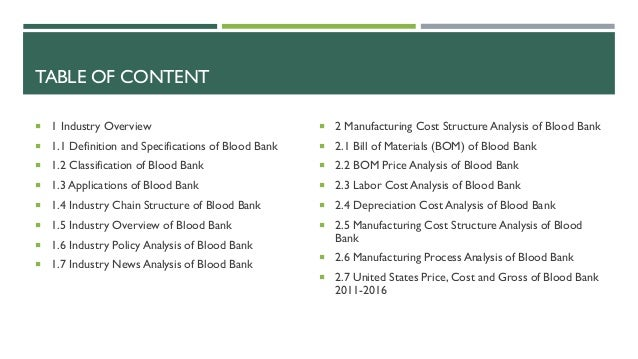 blood bank feasibility report Slaughterhouse pre feasibility study - roots of peace final report and appendices 1 abbreviations and acronyms adb asian development bank.