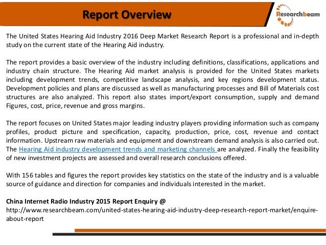 United states hearing aid industry 2016 Slide 2