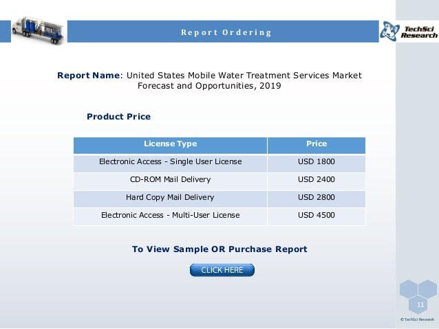 Electronic Water Treatment Product : United states mobile water treatment services market