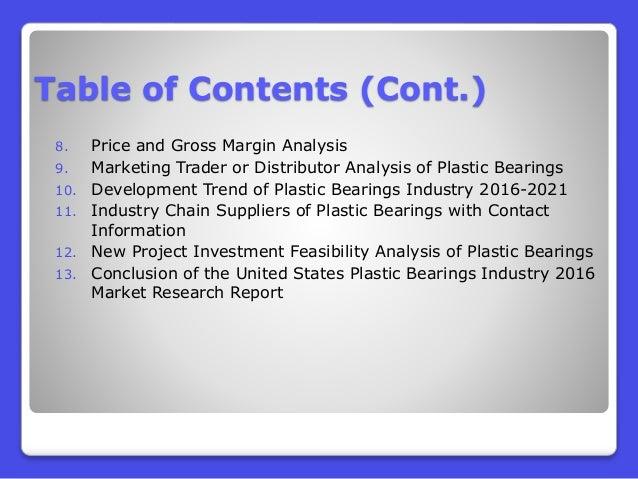 Plastic Bearings Industry 2016 : United States Market Outlook
