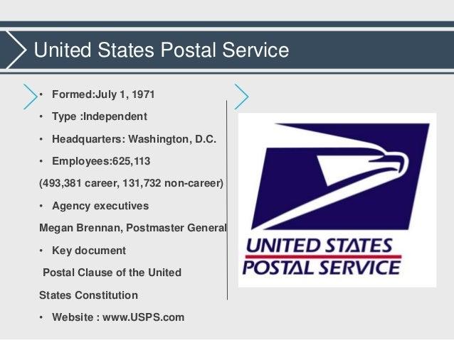3. United States Postal Service ...