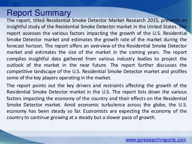 residential smoke detector market New study on 2018-2023 residential smoke detectors market global key player, demand, growth, opportunities and analysis forecast added to wise guy reports database smoke detector is a device.