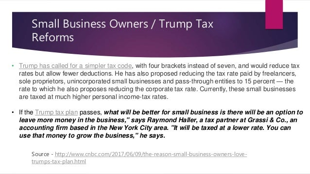 United States – Tax Reforms – President Donald Trump - June 2017