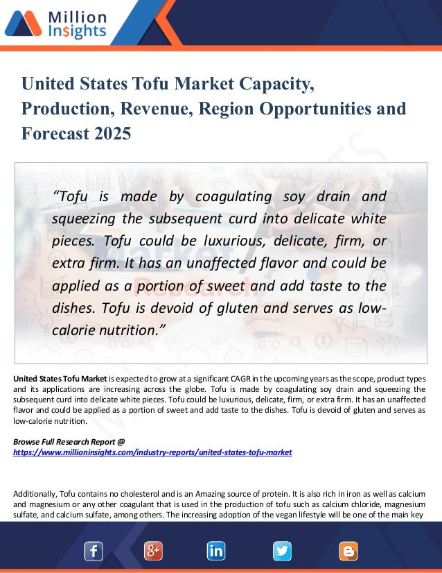 United States Tofu Market Size, Share, Trends Analysis And