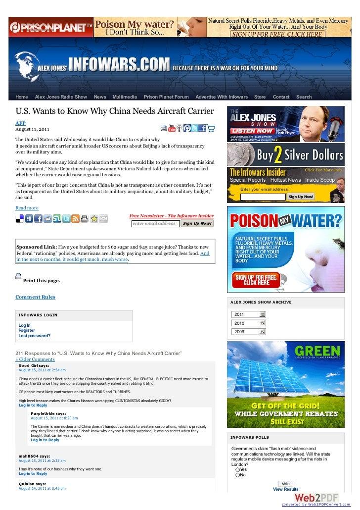 Home      Alex Jones Radio Show               News       Multimedia         Prison Planet Forum            Advertise With ...