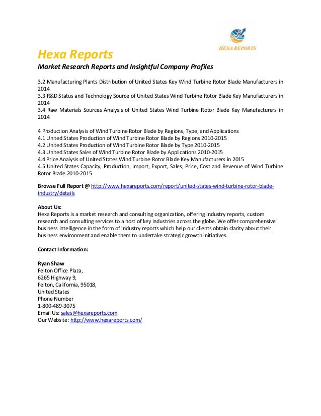 United States Wind Turbine Rotor Blade Market, Growth and