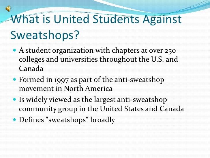 United students against sweatshops final