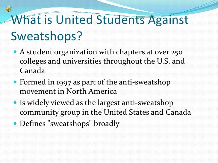 2 what is united students against sweatshops