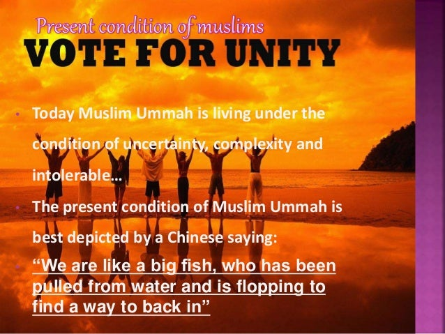  If, from the very beginning, our goal is to build then it's no surprise that our unity will only hurt us and we will not...