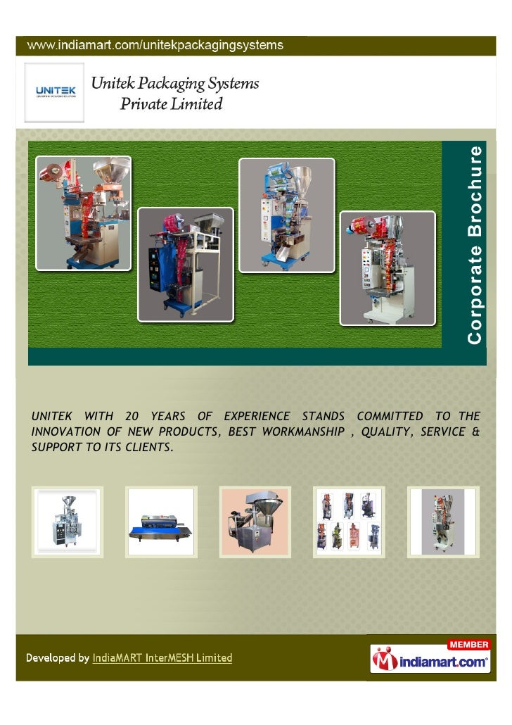 UNITEK WITH 20 YEARS OF EXPERIENCE STANDS COMMITTED TO THEINNOVATION OF NEW PRODUCTS, BEST WORKMANSHIP , QUALITY, SERVICE ...