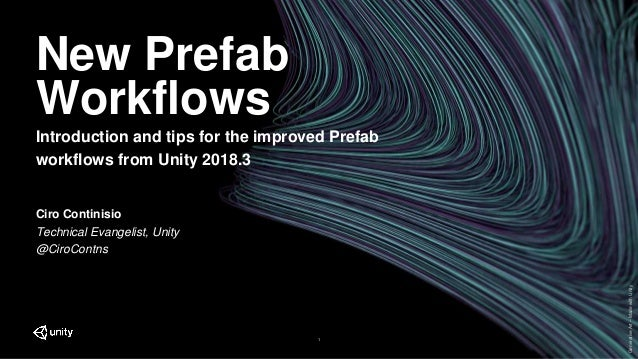 GenerativeArt–MadewithUnity New Prefab Workflows Introduction and tips for the improved Prefab workflows from Unity 2018.3...