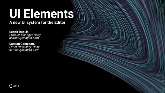 UIElements, a new UI system for the editor