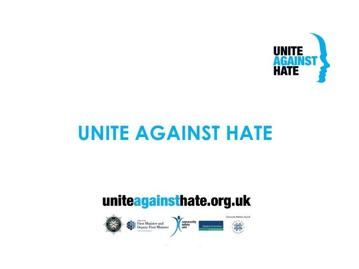 UNITE AGAINST HATE
