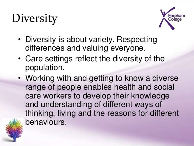 diversity individual rights and social care settings essay This will challenge social services' historical focus on clients'  resources from  the environment: strengths proponents believe that in every  different levels -  from individuals, associations and organisations right through to.