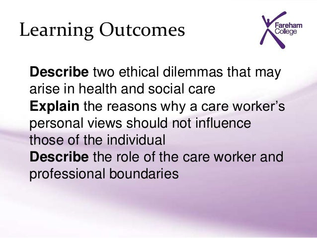 explain duty of care in health and social care