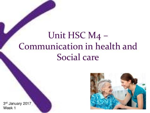 Unit hsc 25 social care