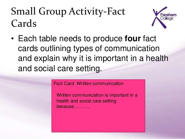 group communication in health and social care setting