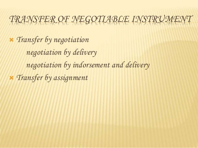 Chapter 25 – Creating a Negotiable Instrument