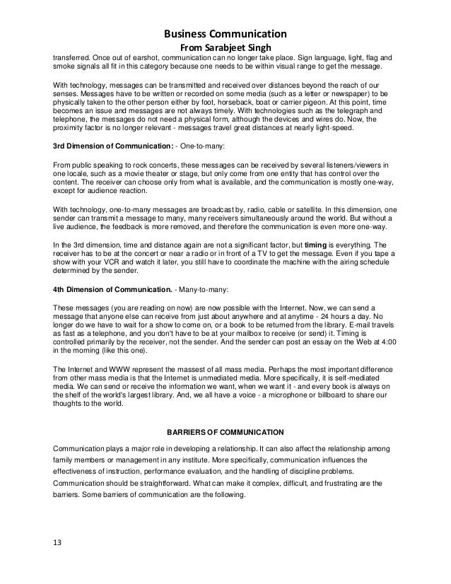 Essay On Business Communication  Oklmindsproutco Essay On Business Communication
