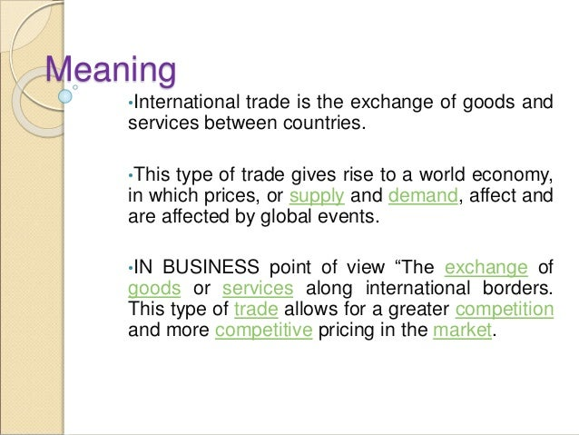 Trading meaning