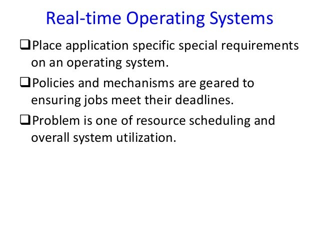 Failures in operating systems