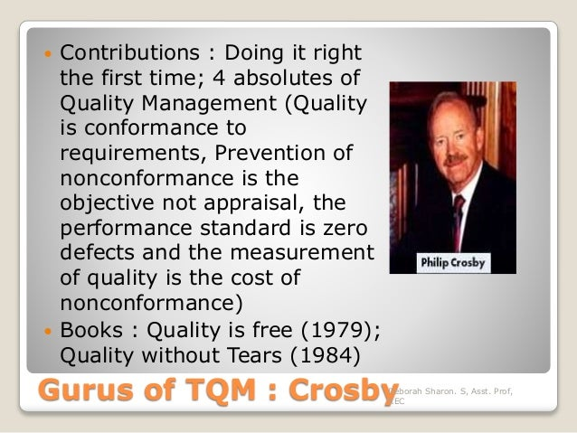 philip crosby quality is free