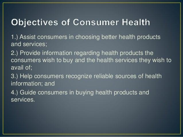 Unit 1 Consumer Health