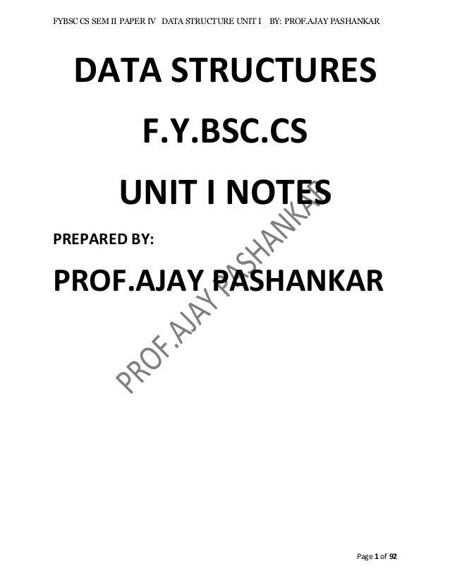 Unit i data structure fycs mumbai university sem ii fandeluxe Images