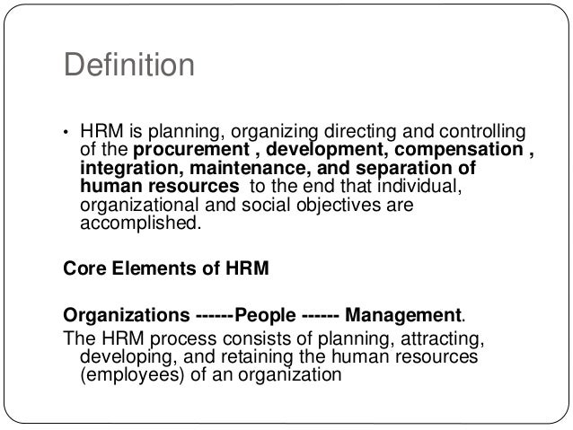 simple definition of hrm