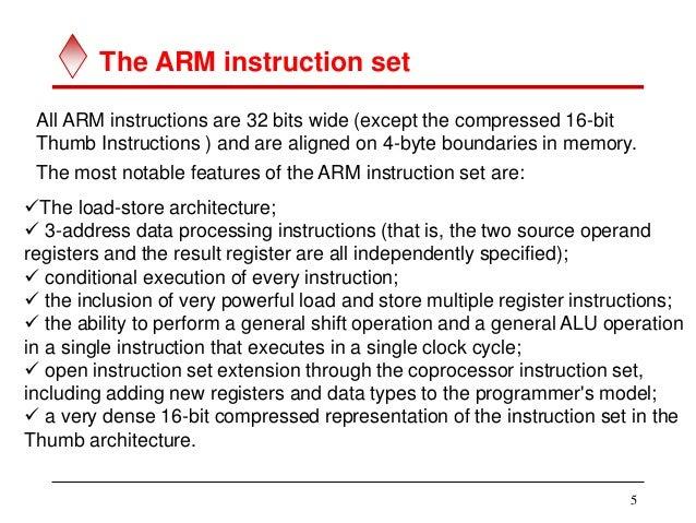 Unit Ii Arm 7 Instruction Set